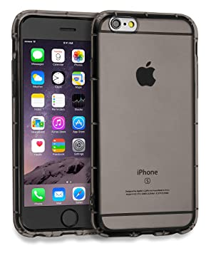 MyGadget Funda Slim para Apple iPhone 6 / 6s Clara Transparente en Silicona TPU - Carcasa Protectora Ultra Delgada con protección de Bordes - Gris