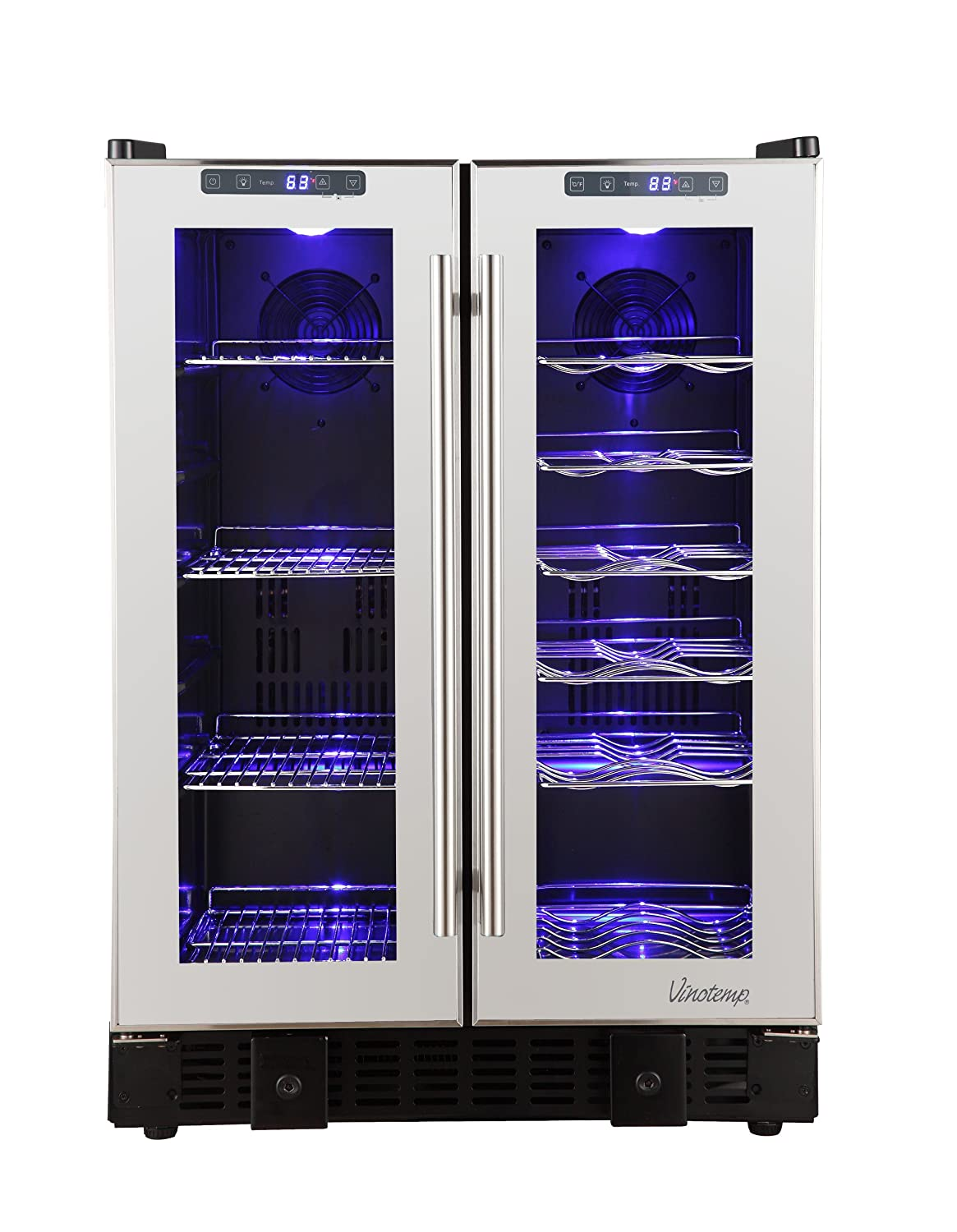 Amazon.com: Vinotemp 36-Bottle Touch Screen Mirrored Wine and Beverage  Cooler: Appliances
