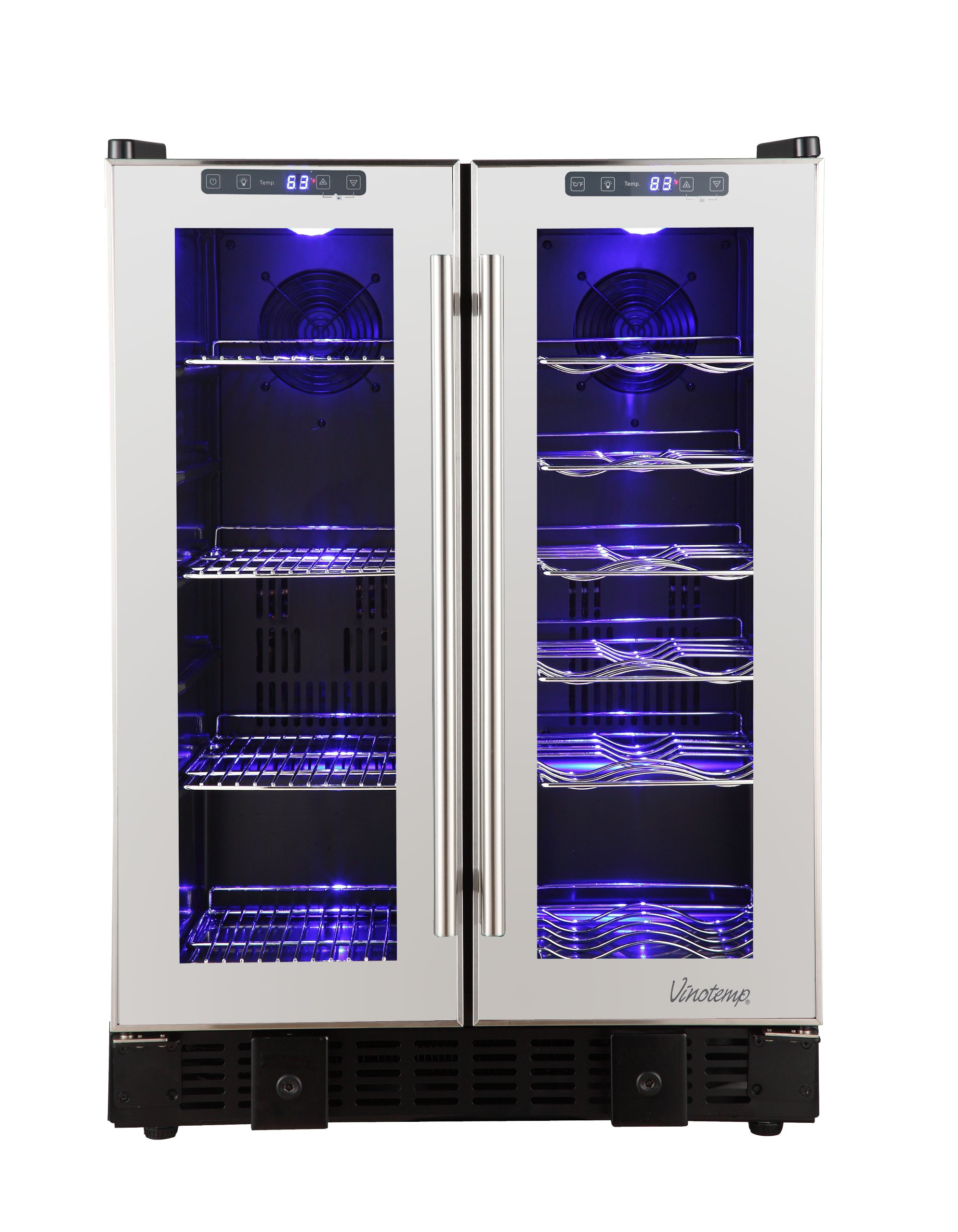 Vinotemp 36-Bottle Touch Screen Mirrored Wine and Beverage Cooler