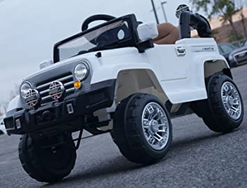 ride on car power wheels jeep white cars for kids with parent remote control car