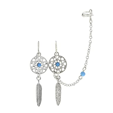 Claire's Girl's Dreamcatcher Earrings And Chain Ear Cuff Claire's Gorgeous Dream Catcher Ear Cuff