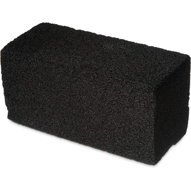 Carlisle Sparta Grill Brick, Black, 8''x4''x3-1/2, Lot of 12