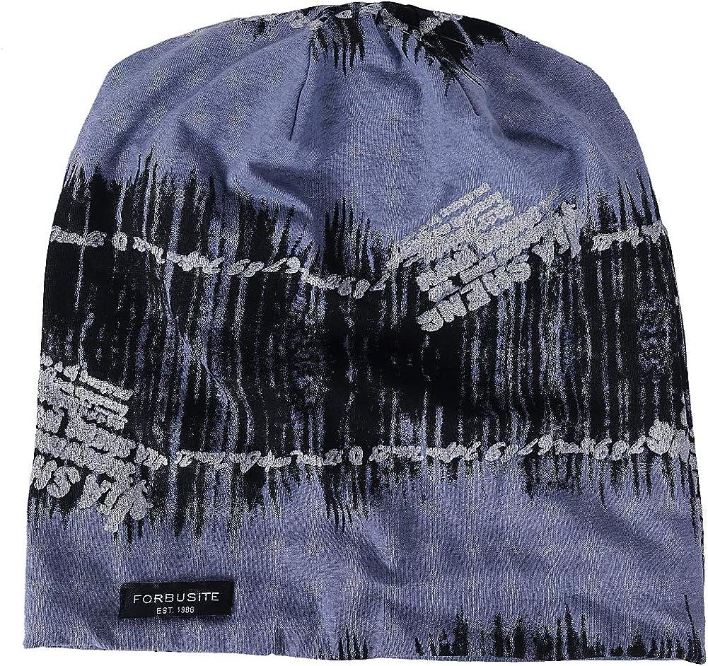 Jazmiu Mens Slouchy Beanie Knit Skull Cap Baggy Summer Winter Hats