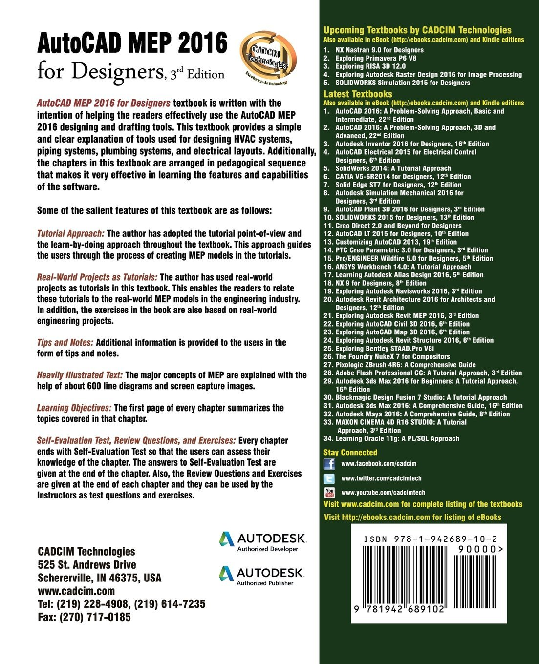 Autocad Mep 2016 For Designers 3rd Edition Prof Sham Tickoo Drawing Hvac Systems Purdue Univ 9781942689102 Books