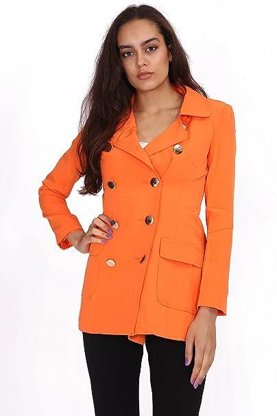 Ladies Trench Coat Mujer Doble Pecho trinchera abrigo tamaño 8 - 12: Amazon.es: Ropa y accesorios