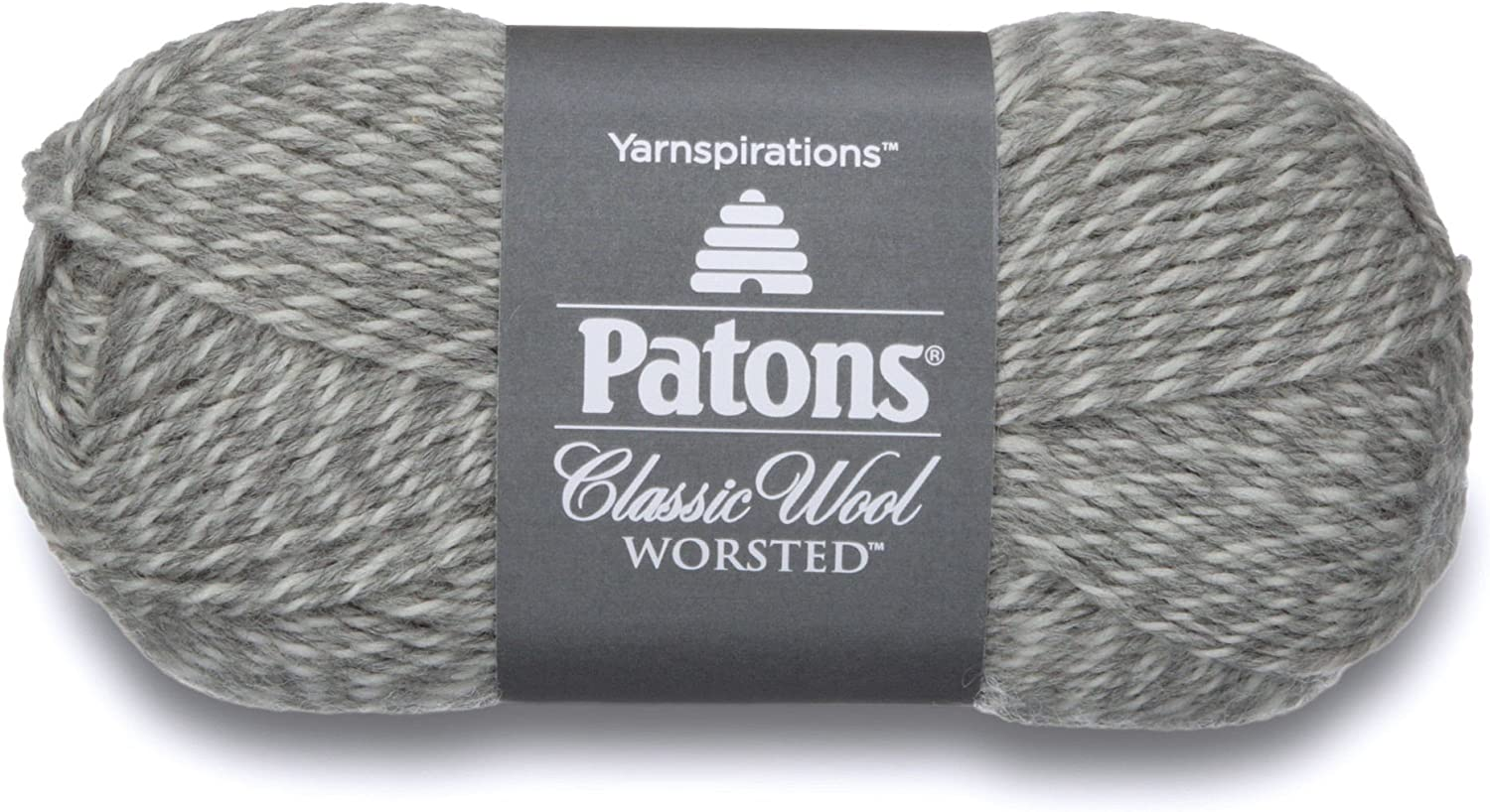 NEW PATONS CLASSIC WOOL WORSTED Yarn 1 skein 100g GREY MIX