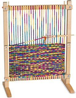 melissa doug wooden multi craft weaving loom extra large frame 2275