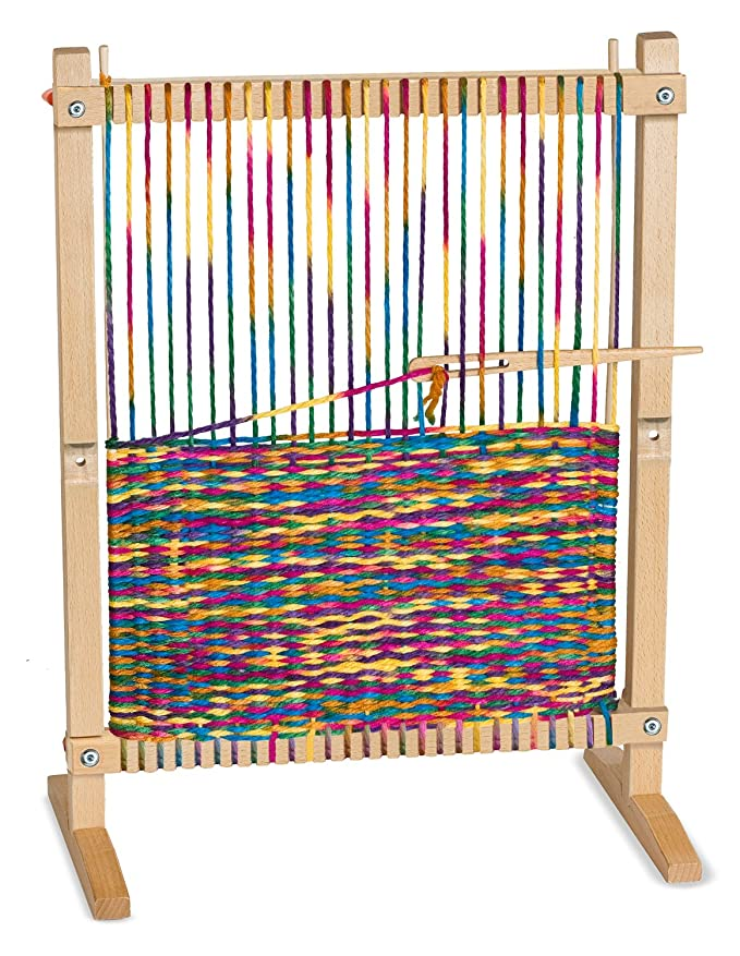Review Melissa & Doug Wooden Multi-Craft Weaving Loom: Extra-Large Frame (22.75 x 16.5 inches)