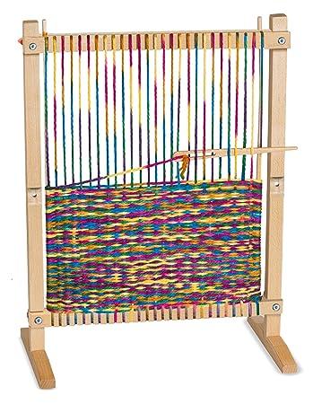 melissa doug wooden multi craft weaving loom extra large frame 2275