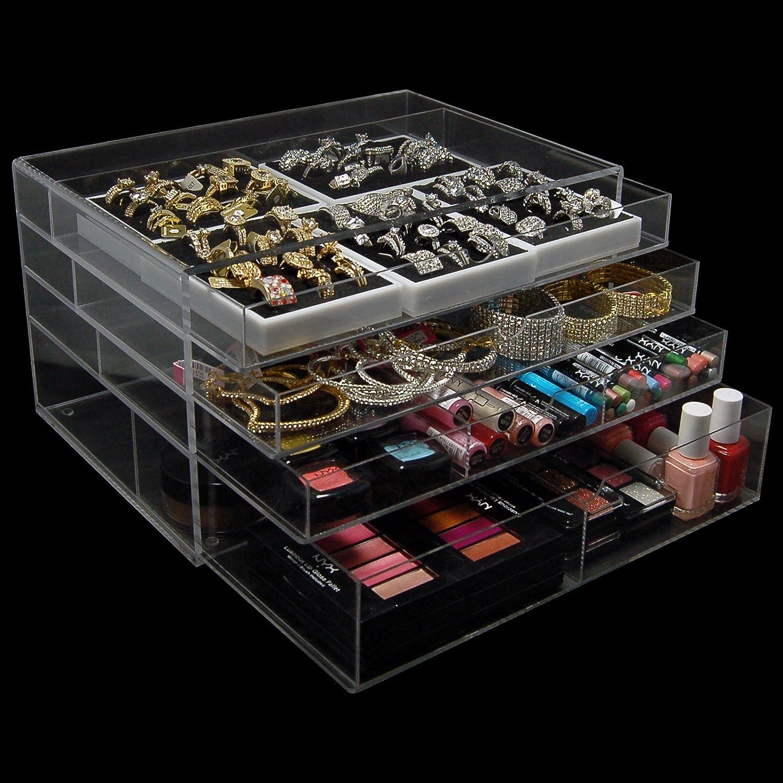 Amazoncom Acrylic Makeup Cosmetic Jewelry Organizer 4L Home
