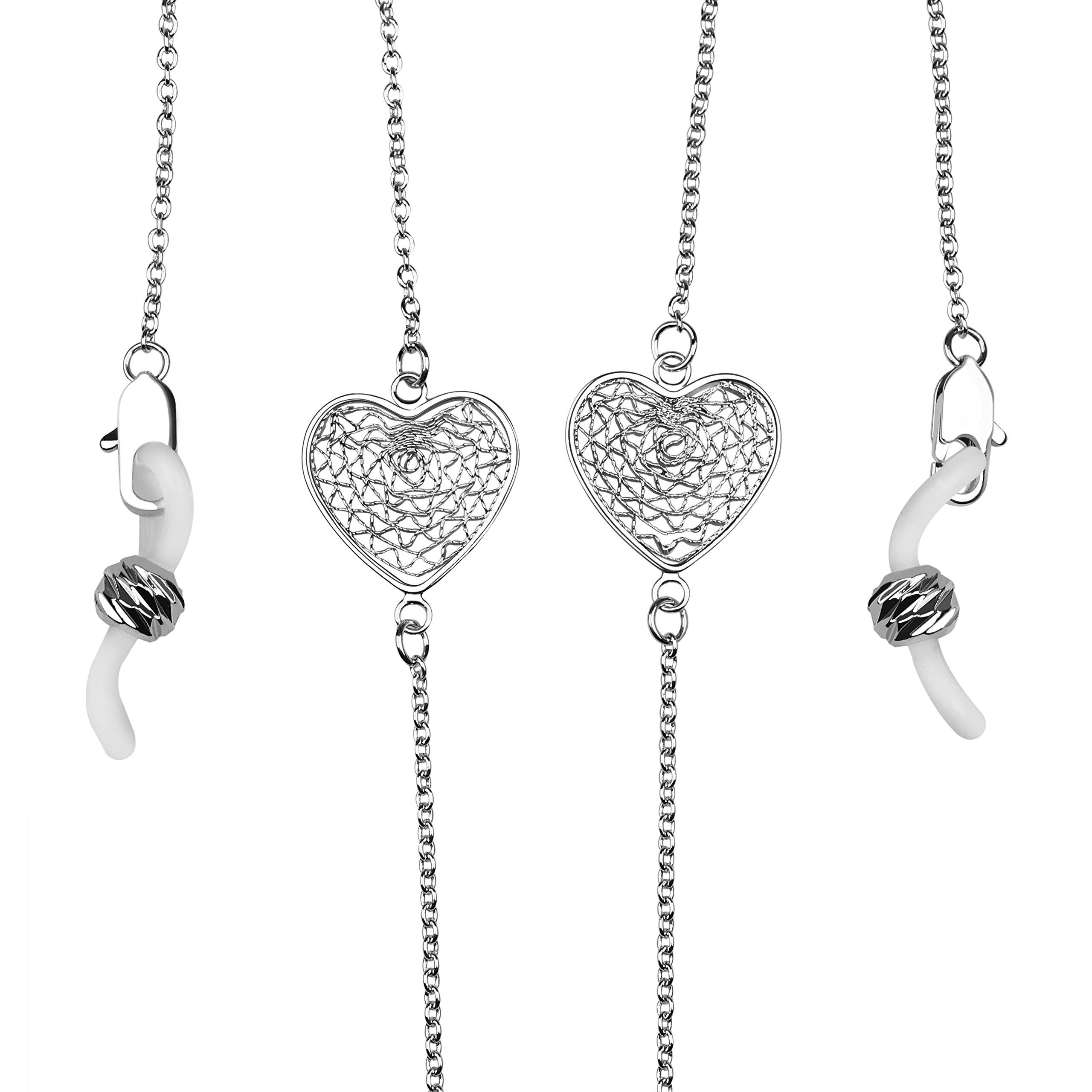 Eyeglass Chain Holder for Women Sunglasses & Galsses Holder Strap (Platinum)