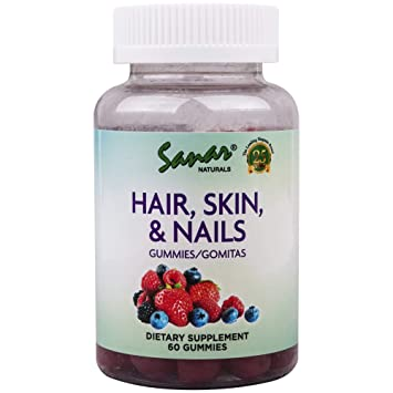 Sanar Naturals Hair, Skin & Nails Gummy (1 Month Supply) - Hydrolyzed Collagen 1 and 3, Biotin, Zinc,...