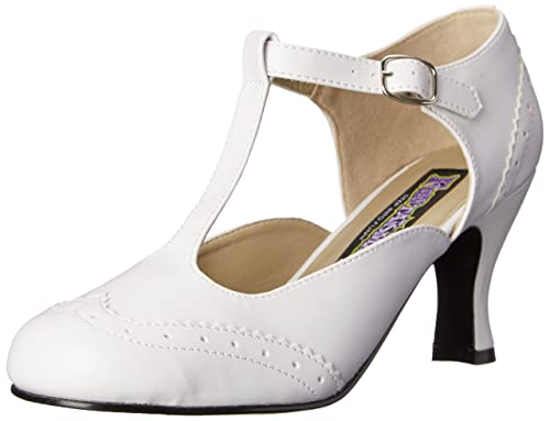 La Salida De Moda PleaserFlapper 26 - Scarpe con Chiusura a T Donna - Bianco (Wht Pu) - 37 EU (4 UK) amazon-shoes Recomendar Barato Enchufe De Fábrica Del Envío Venta 100% Originales Salida Ebay ndMRtkv