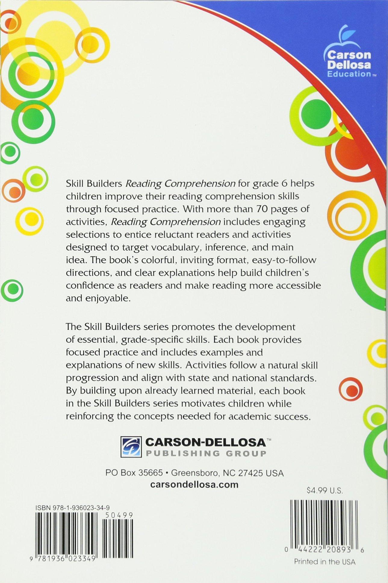 Amazoncom Reading Comprehension Grade 6 Skill Builders