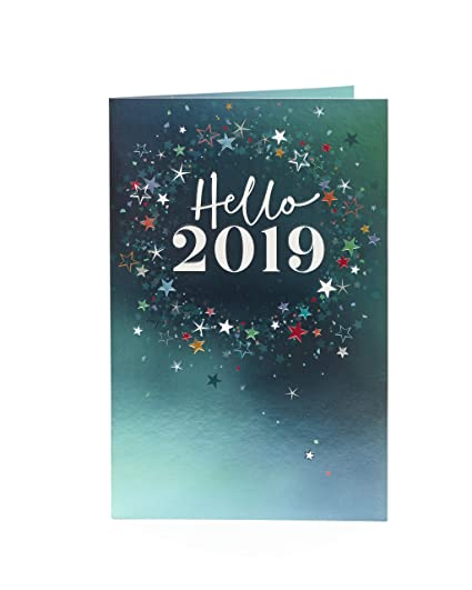 Amazon Com Hello 2019 Happy New Year Card From Uk Greetings