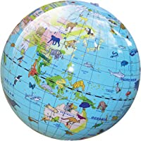 Tiger Tribe Inflatable Animal World Globe 30 cm