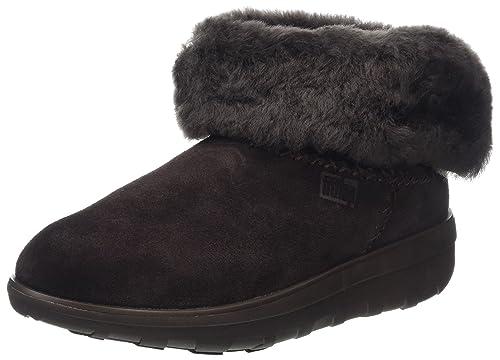 Fitflop Mukluk Shorty 2 Boots, Botines para Mujer, Marrón (Chocolate), 38 EU