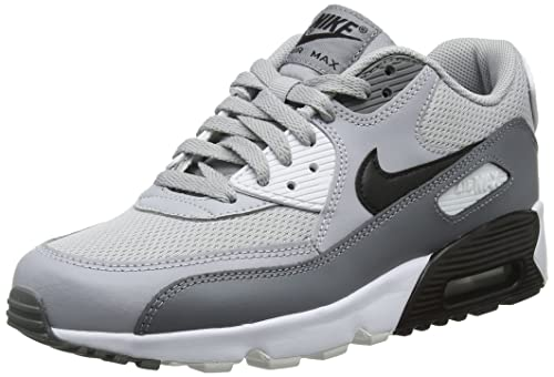 Nike Air Max 90 Mesh (Gs), Zapatillas de Running para Niños, Multicolor (Wolf Grey/Black-Cool Grey-White 024), 39 EU: Amazon.es: Zapatos y complementos