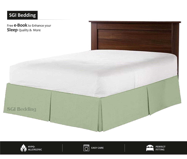 550 TCエジプト綿寝具ベッドスカート1 x 18