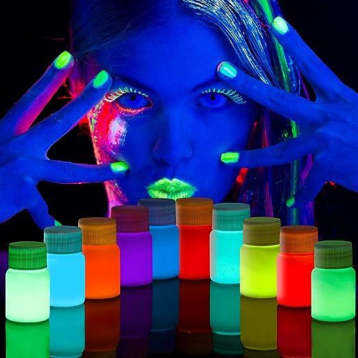 SuMile Pintura Fluorescente 10 Colores Pinturas de luz