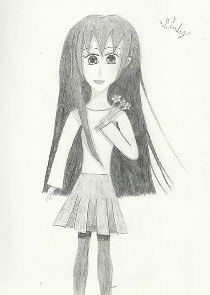Original Art 13x19 Anime Poster Manga Girl Sketch Fashion Illustration Kawaii Wall