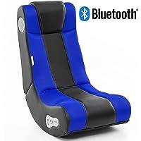 Wohnling® Soundchair InGamer mit Bluetooth | Musiksessel mit eingebauten Lautsprechern | Multimediasessel für Gamer | 2.1 Soundsystem - Subwoofer | Music Gaming Sessel Rocker Chair