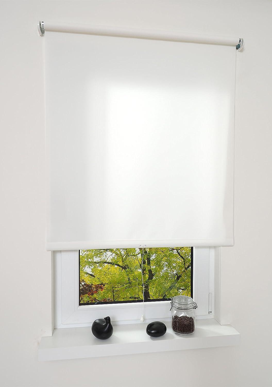 Liedeco® Rollo, Spring-, Schnapprollo   202 x 180 cm (Breite x Höhe), weiß lichtdurchlässig, Blickdicht viele Farben, Größen und Typen Breiten 60-200 cm Variable Montage möglich