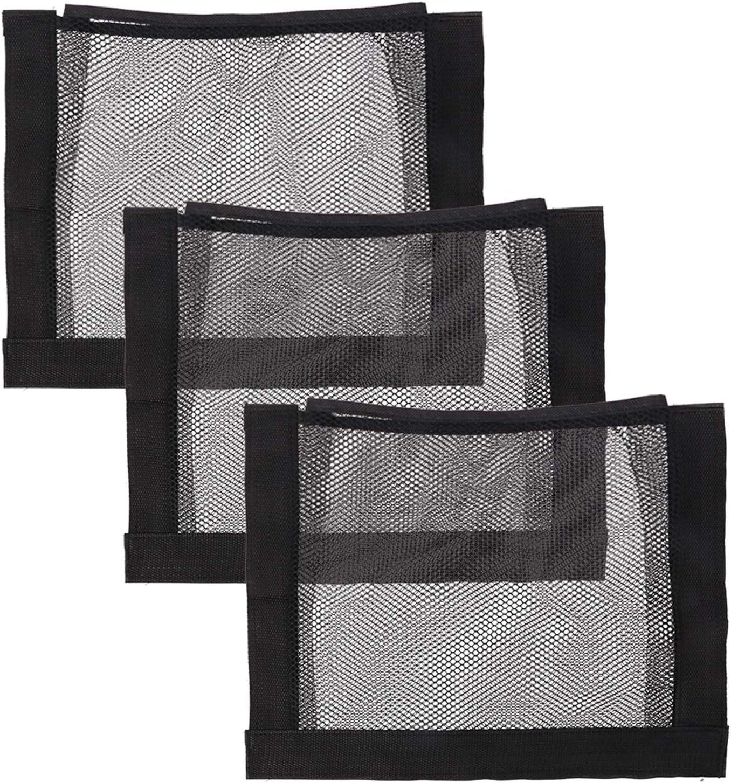 tiopeia 3Pcs Universal Mesh Cargo Net Wall Sticker Organizer Pouch Bag for Car Trunk /& Home Organization