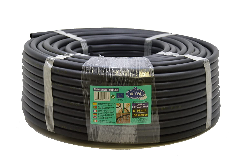 S&M S&M 010064 Irrigation Piping– 16mm x 100m– Black