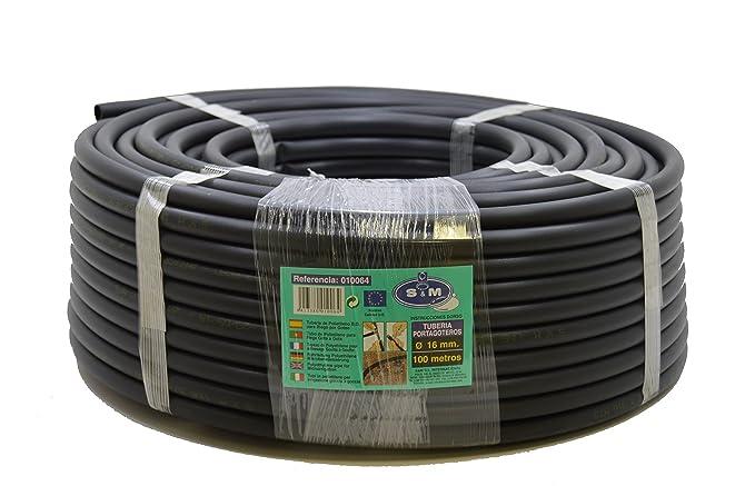 S & M 010064 Bewässerung Paspelierung – 16 mm x 100 m – schwarz