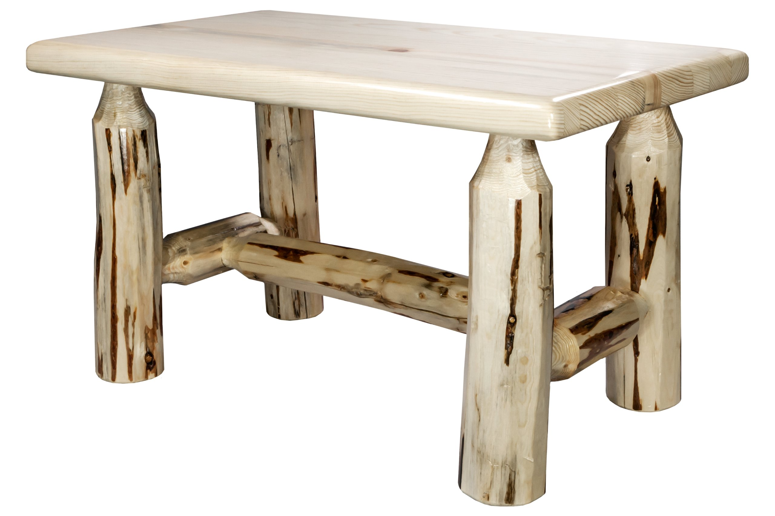 Montana Woodworks Collection Ottoman, Clear Lacquer Finish