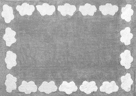 Aratextil Nube Alfombra Infantil, Algodón, Gris, 120 x 160 cm ...