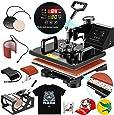 SUNCOO Heat Press Machine Swing Away Digital Sublimation Heat Pressing Transfer Machine for T-Shirt/Mug/Hat Plate/Cap (12x15 (5 in 1))