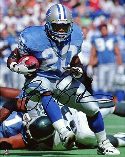 reputable site dabde 0497d Amazon.com: Barry Sanders Detroit Lions Autographed 8