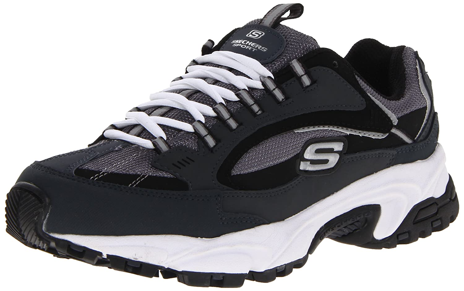 Skechers Go Walk 3 Charge - Zapatillas Hombre 11.5 D(M) US|Navy/Black