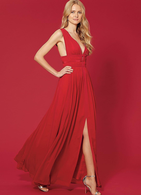 McCall Patterns M7685A50 Misses Deep V Dress