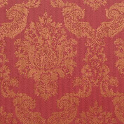 Romosa Wallcoverings 1245317 Louis Damask Wallpaper Red Gold