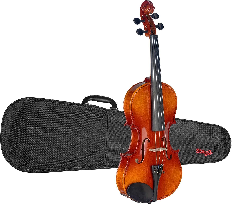 Stagg VN-4/4 L de arce del violín 4/4 con el carcasa: Amazon.es: Instrumentos musicales