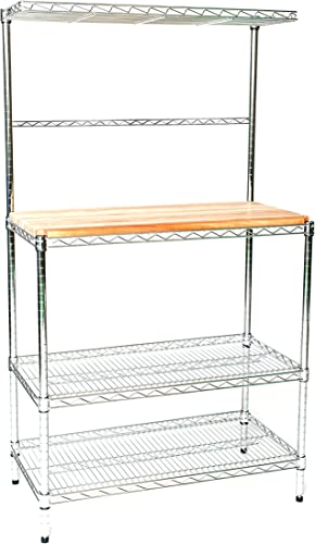 Omega 24″ Deep x 60″ Wide x 74″ High Deluxe Chrome Bakers Rack
