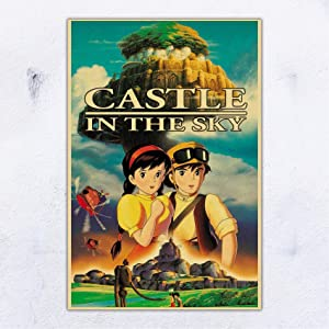UpdateClassic Miyazaki Hayao - Castle in The Sky Anime Movie Poster Wall Decor 11x17