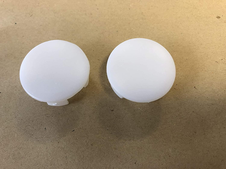 Pair Toilet Pan Caps//Plugs