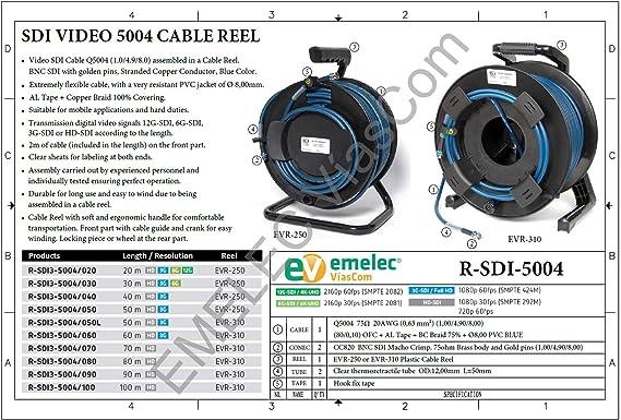 Emelec Víascom R Sdi3 5004 050 50 M Videokabel 3g Elektronik