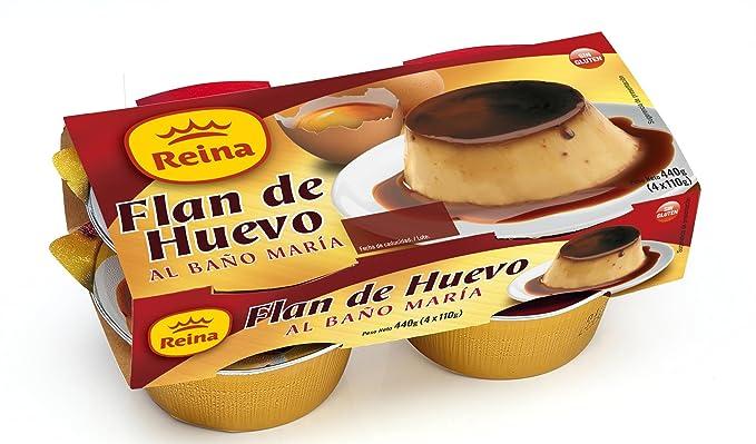 Reina - Flan De Huevo, 4 Unidades x 110 gr, Total 440 gr