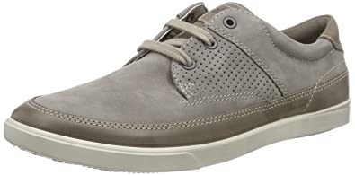 ECCO Men's Collin Nautical Perforated Fashion Sneaker, Warm Grey, 42 EU/8-