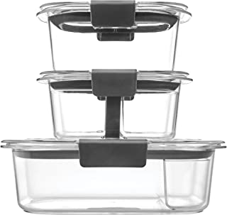 product image for Rubbermaid Brilliance Food Storage Containers 10 Piece Plastic Containers with Lids Bento Box Style Sandwich and Snack Lunch Kit BPA Free, Leak Proof Food Container Microwave /Dishwasher Safe