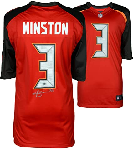14d30cea Jameis Winston Tampa Bay Buccaneers Autographed Red Nike Game Jersey ...