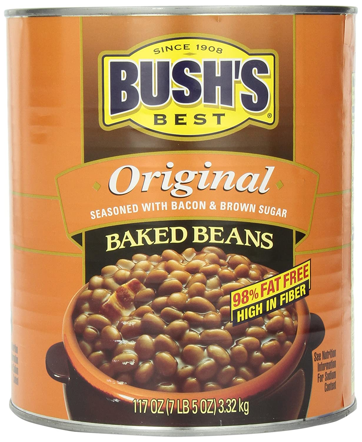 Amazon Com Bush S Best Baked Beans 117 Ounce Packaged Baked Beans Grocery Gourmet Food