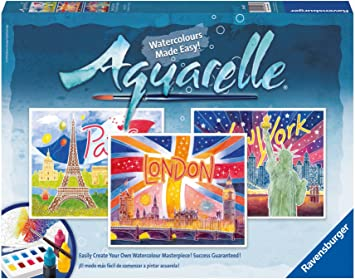 Ravensburger Aquarelle Maxi World Cities Amazon Co Uk Toys Games