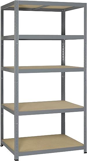 Resistente 265 Metal y madera estantería resistente Clip con 5 ...