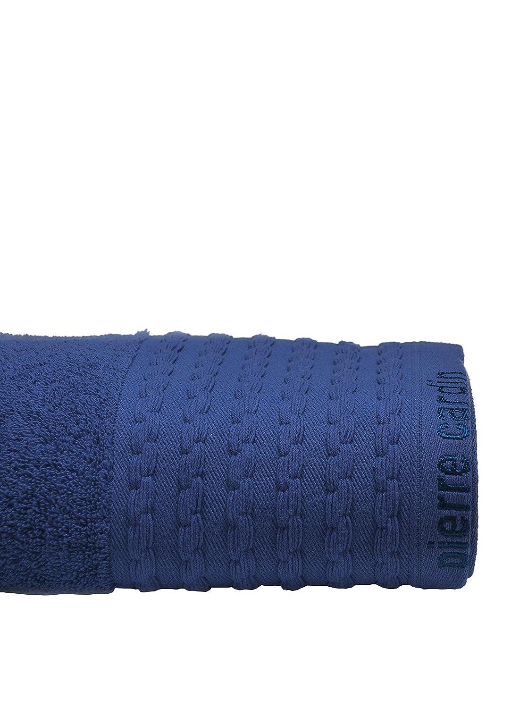 Pierre Cardin Toalla Vendome Algodón Peinado, Azul Oscuro 36x23x0.6 cm: Amazon.es: Hogar